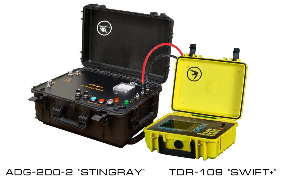 """Power Cable Fault Prelocation Kit <br> TDR-107 """"SWIFT+"""" & ADG-200-2 """"STINGRAY"""""""