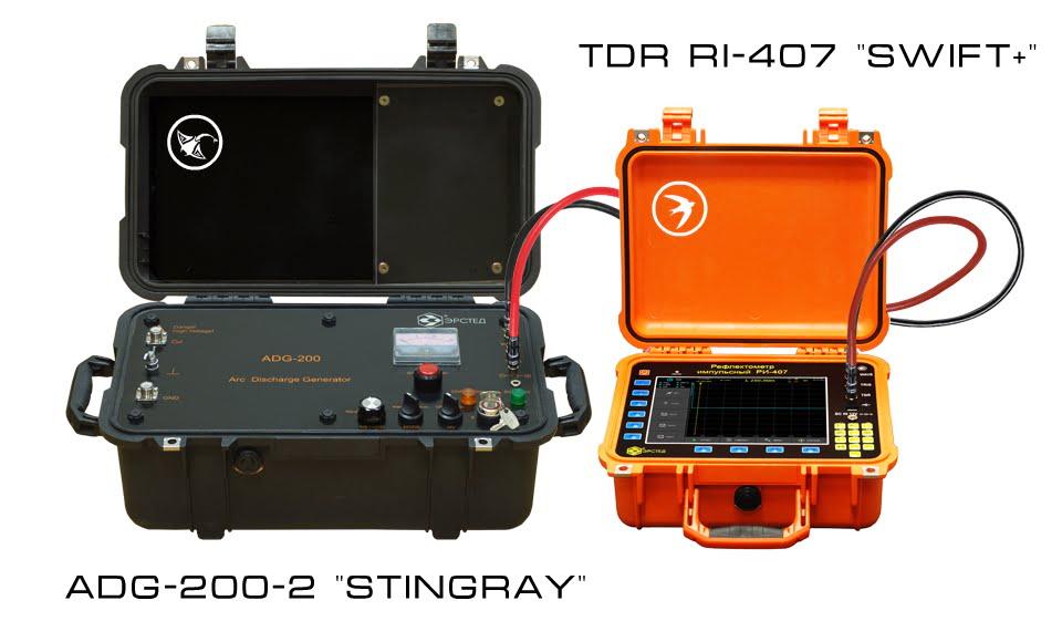 "Cable Fault Locator Kit <br><b>TDR RI-407 ""SWIFT+""  & ADG-200-2 ""STINGRAY""</b>"